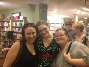 Amie Kaufman, Meagan Spooner, and Beth Revis at Malaprops, 2012.